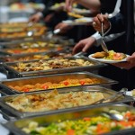people group catering buffet food indoor in luxury restaurant wi
